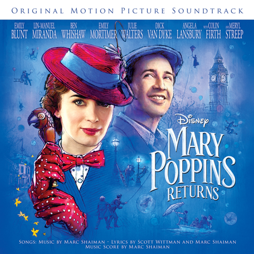 Lin-Manuel Miranda, (Underneath The) Lovely London Sky (from Mary Poppins Returns), Piano, Vocal & Guitar (Right-Hand Melody)