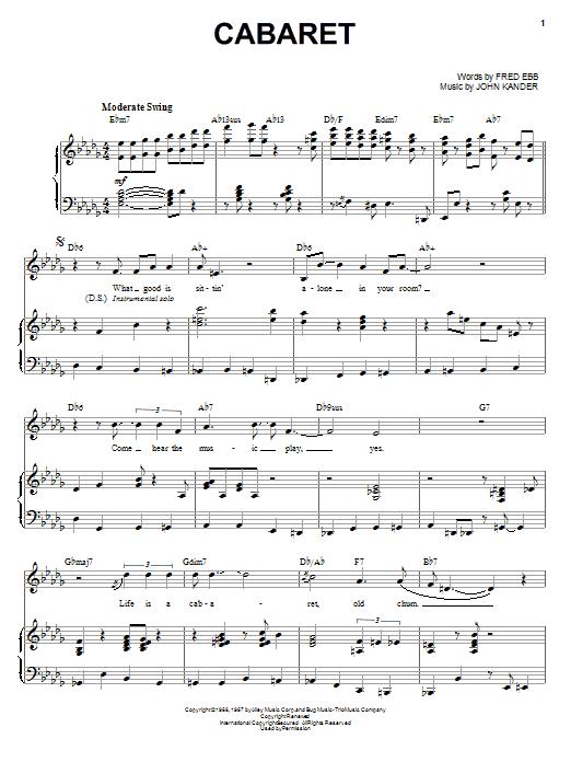 Download Louis Armstrong Cabaret sheet music and printable PDF score & Jazz music notes