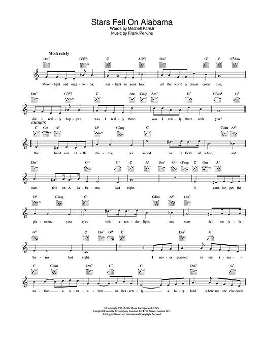 Download Louis Armstrong Stars Fell On Alabama sheet music and printable PDF score & Jazz music notes