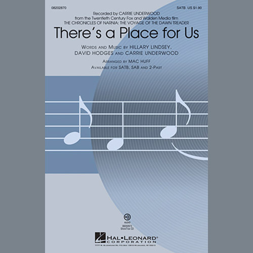 There's A Place For Us (arr. Mac Huff) sheet music