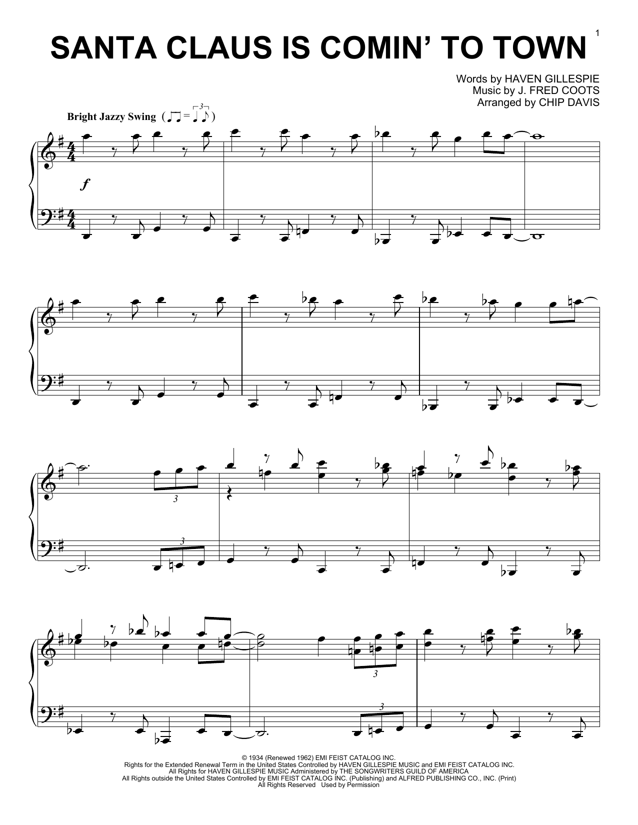 Download Mannheim Steamroller Santa Claus Is Comin' To Town sheet music and printable PDF score & Easy Listening music notes