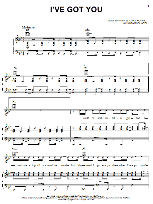Download Marc Anthony I've Got You sheet music and printable PDF score & Rock music notes