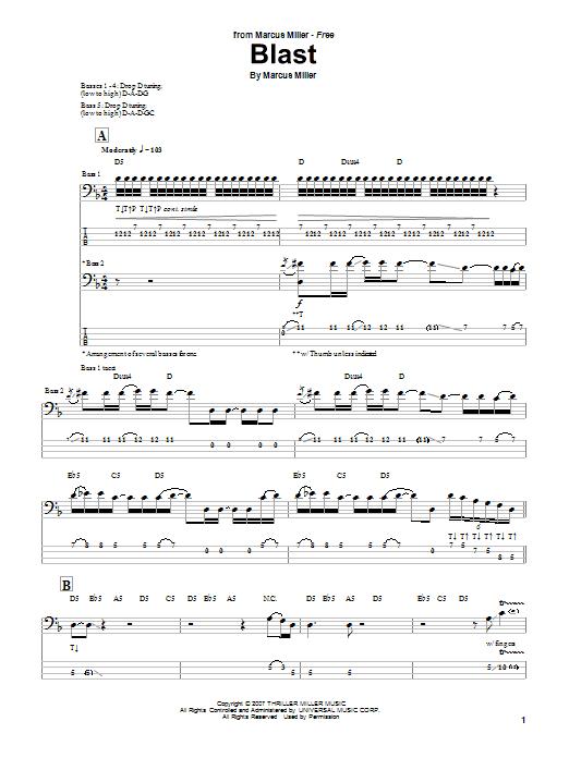 Download Marcus Miller Blast sheet music and printable PDF score & Jazz music notes