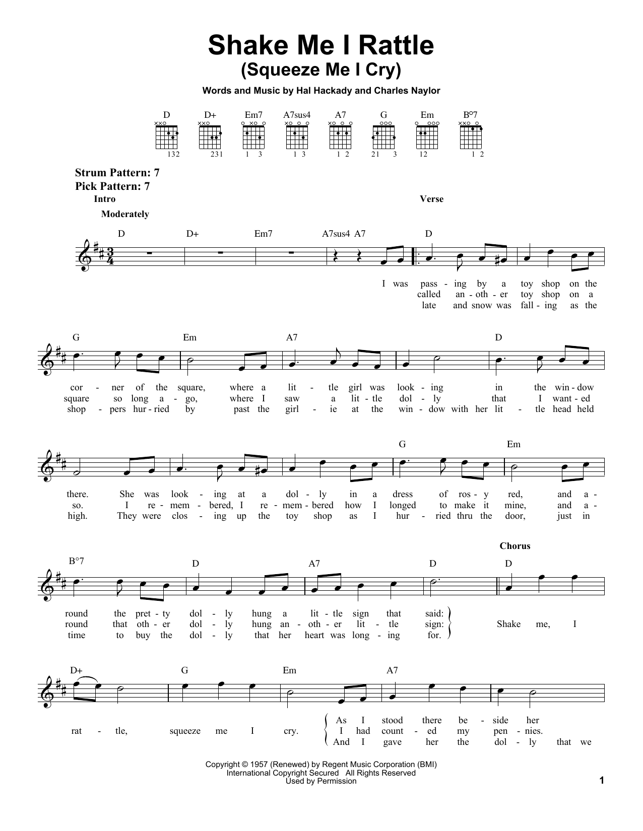 Download Marion Worth Shake Me I Rattle (Squeeze Me I Cry) sheet music and printable PDF score & Country music notes