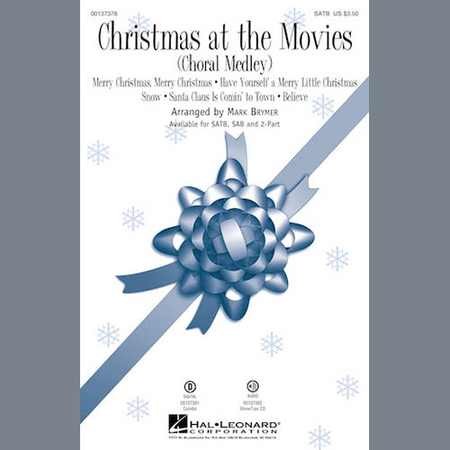 Mark Brymer, Christmas At The Movies (Choral Medley), SATB