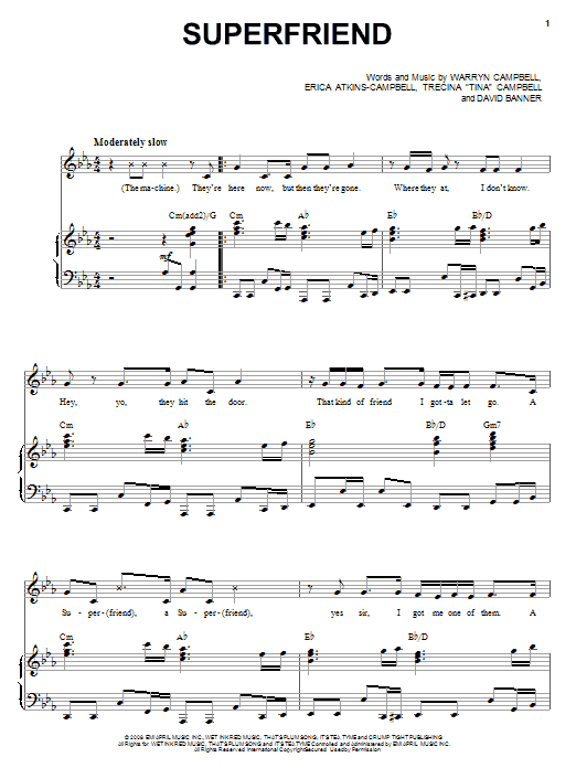 Download Mary Mary Superfriend sheet music and printable PDF score & Pop music notes