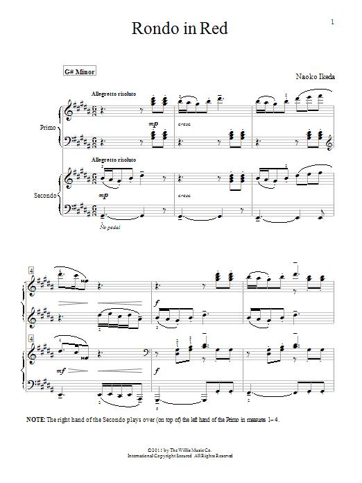 Download Naoko Ikeda Rondo In Red sheet music and printable PDF score & Pop music notes