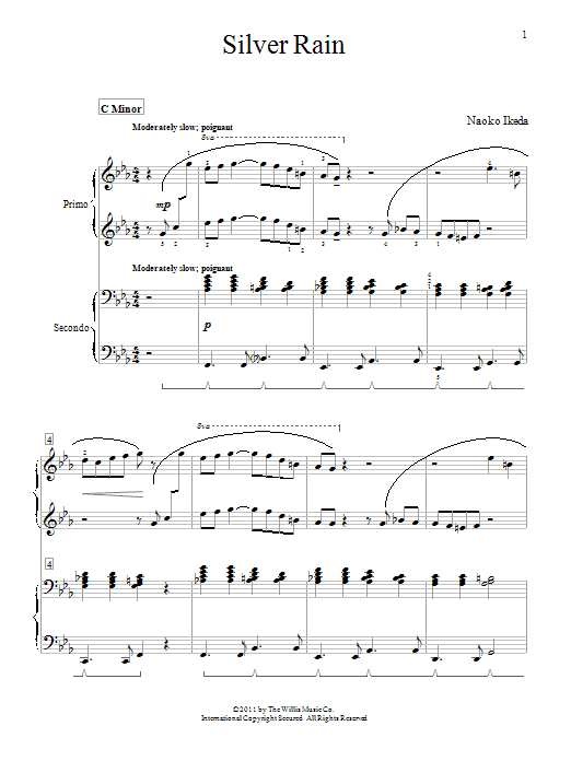 Download Naoko Ikeda Silver Rain sheet music and printable PDF score & Pop music notes