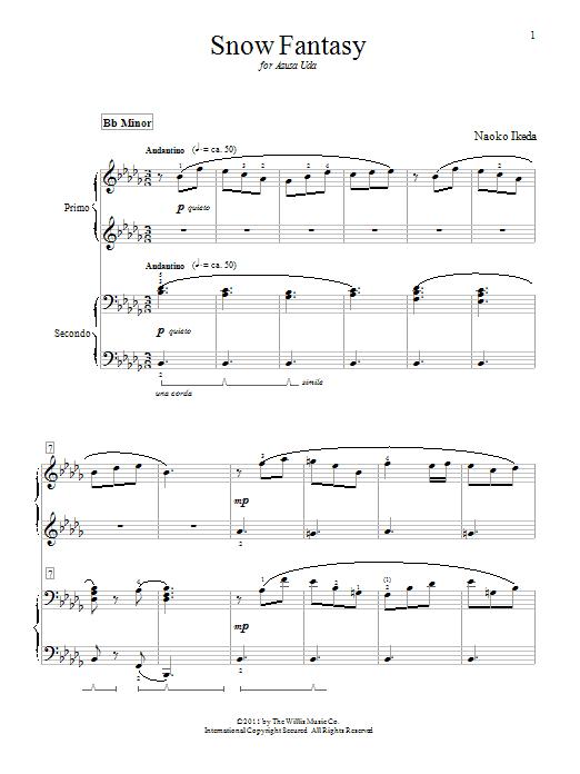 Download Naoko Ikeda Snow Fantasy sheet music and printable PDF score & Pop music notes