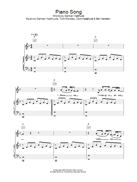 Download Obi Piano Song sheet music and printable PDF score & Pop music notes