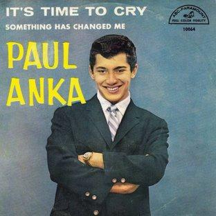 Paul Anka, Time To Cry, Piano, Vocal & Guitar (Right-Hand Melody)