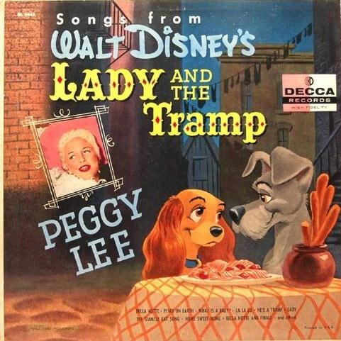 Peggy Lee, He's A Tramp (from Lady And The Tramp), Piano, Vocal & Guitar (Right-Hand Melody)