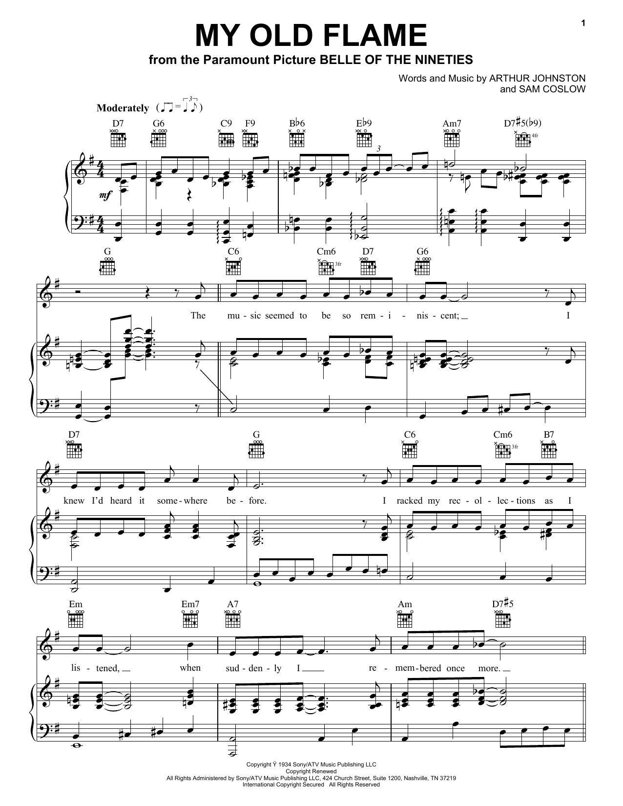 Download Peggy Lee My Old Flame sheet music and printable PDF score & Jazz music notes