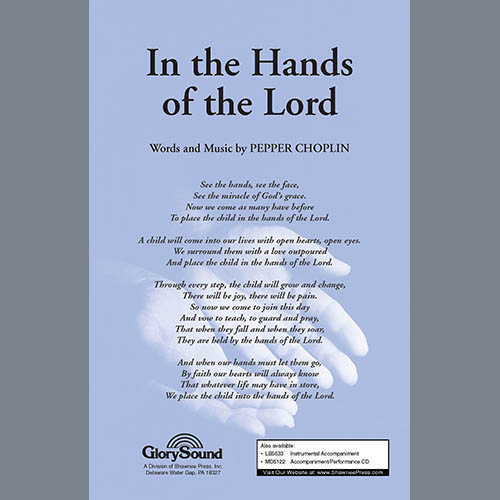 Pepper Choplin, In The Hands Of The Lord, SATB Choir