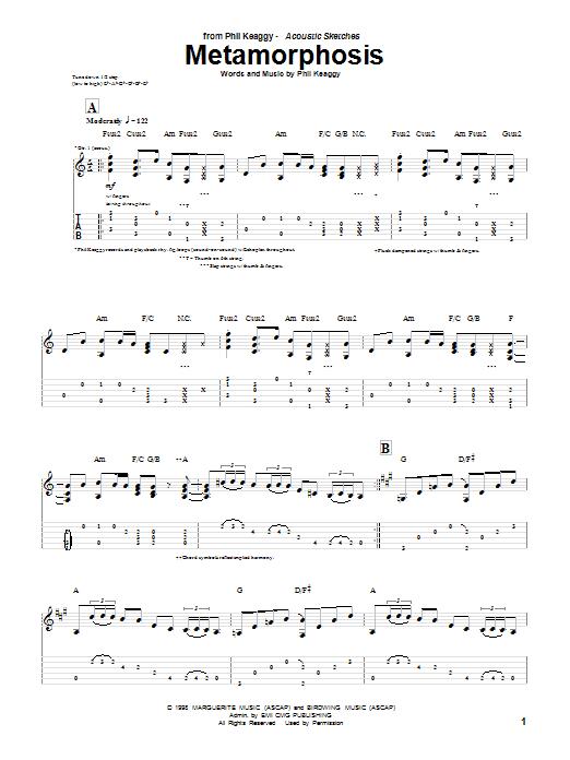 Download Phil Keaggy Metamorphosis sheet music and printable PDF score & Pop music notes