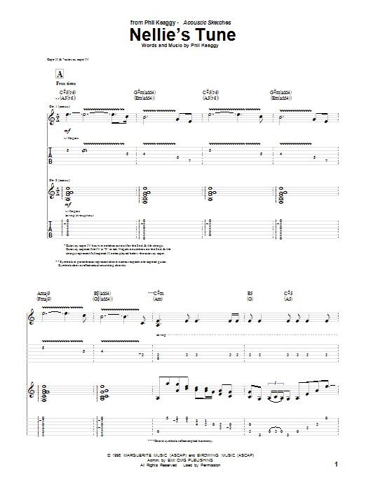 Download Phil Keaggy Nellie's Tune sheet music and printable PDF score & Pop music notes