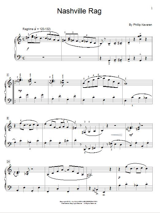 Download Phillip Keveren Nashville Rag sheet music and printable PDF score & Jazz music notes