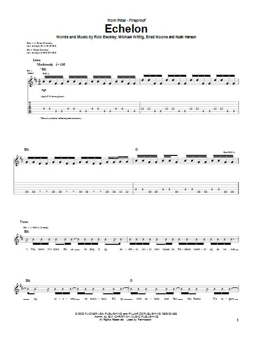 Download Pillar Echelon sheet music and printable PDF score & Religious music notes