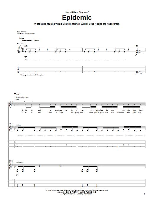 Download Pillar Epidemic sheet music and printable PDF score & Religious music notes