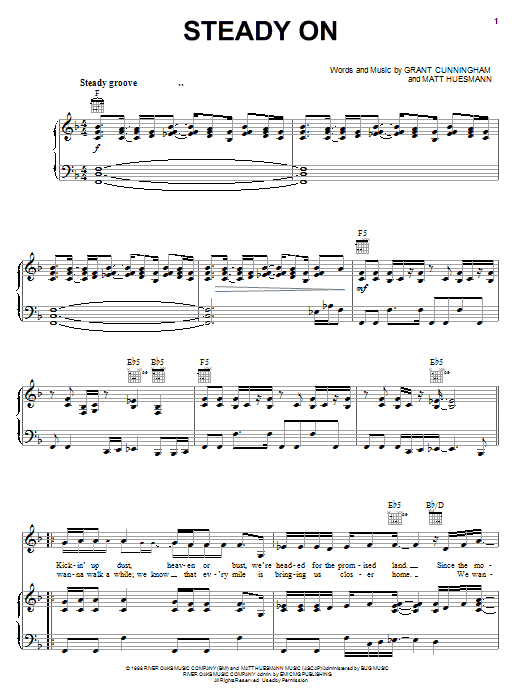 Download Point Of Grace Steady On sheet music and printable PDF score & Religious music notes