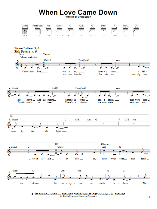 Download Point Of Grace When Love Came Down sheet music and printable PDF score & Religious music notes
