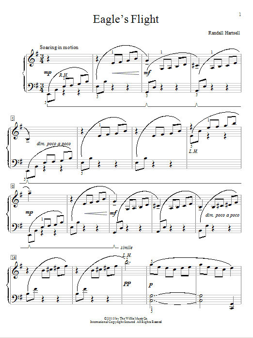 Download Randall Hartsell Eagle's Flight sheet music and printable PDF score & Pop music notes