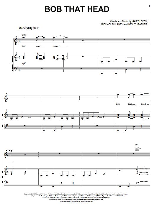 Download Rascal Flatts Bob That Head sheet music and printable PDF score & Pop music notes