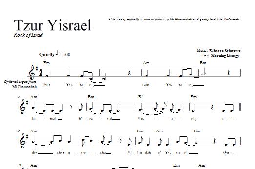 Download Rebecca Schwartz Tzur Yisrael sheet music and printable PDF score & Religious music notes