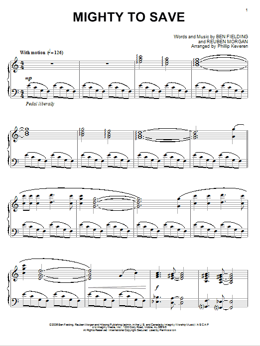 Download Reuben Morgan Mighty To Save [Jazz version] (arr. Phillip Keveren) sheet music and printable PDF score & Pop music notes