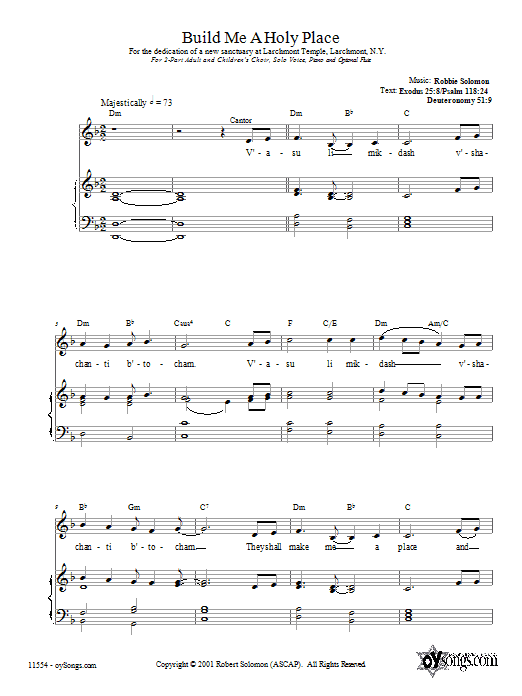 Download Robbie Solomon Build Me a Holy Place sheet music and printable PDF score & Religious music notes