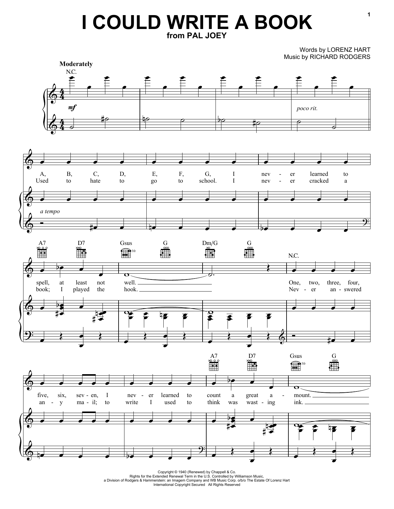 Download Miles Davis I Could Write A Book sheet music and printable PDF score & Pop music notes