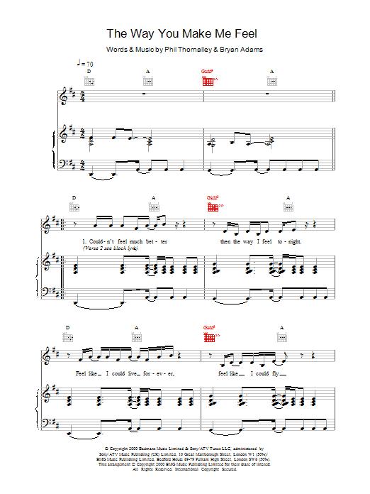 Download Ronan Keating The Way You Make Me Feel sheet music and printable PDF score & Pop music notes