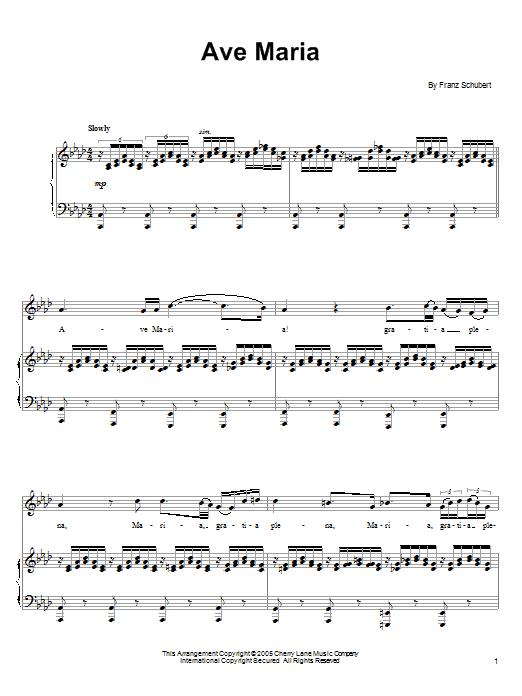 Download Ronan Tynan Ave Maria sheet music and printable PDF score & World music notes