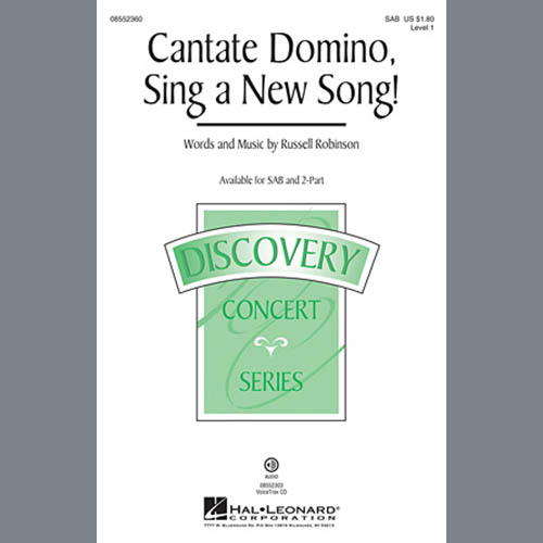 Russell Robinson, Cantate Domino, Sing A New Song!, 2-Part Choir
