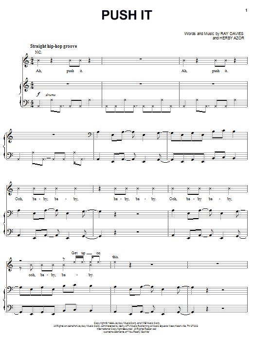 Download Salt-N-Pepa Push It sheet music and printable PDF score & Rock music notes