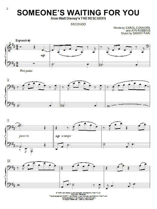 Download Sammy Fain Someone's Waiting For You sheet music and printable PDF score & Children music notes