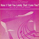 Scott Wiseman Have I Told You Lately That I Love You Sheet Music and PDF music score - SKU 159478