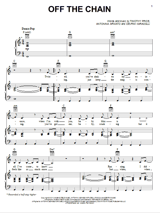 Download Selena Gomez & The Scene Off The Chain sheet music and printable PDF score & Pop music notes