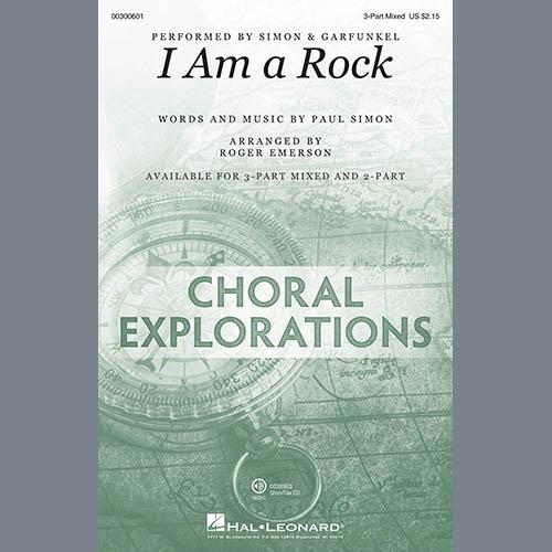 Simon & Garfunkel, I Am A Rock (arr. Roger Emerson), 3-Part Mixed Choir