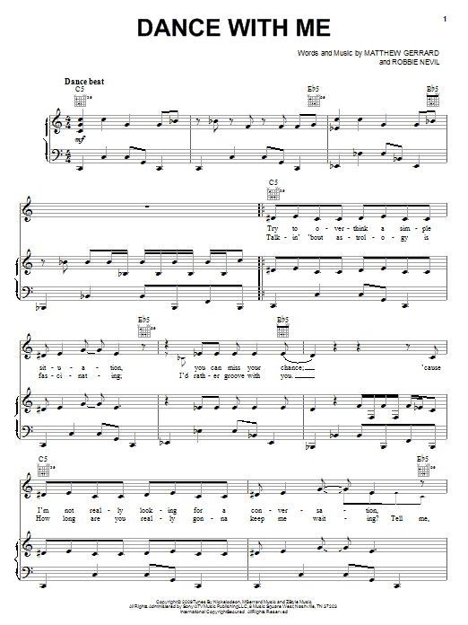 Download Spectacular! (Movie) Dance With Me sheet music and printable PDF score & Rock music notes