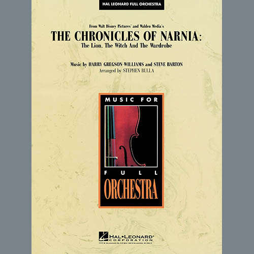 Stephen Bulla, Music from The Chronicles Of Narnia: The Lion, The Witch And The Wardrobe - Percussion 1, Full Orchestra