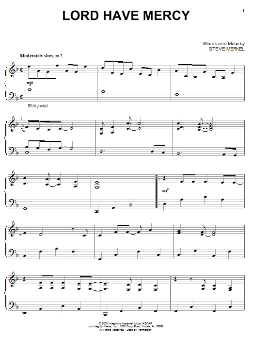Download Steve Merkel Lord Have Mercy sheet music and printable PDF score & Pop music notes