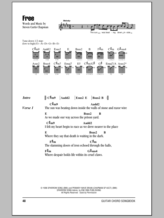 Download Steven Curtis Chapman Free sheet music and printable PDF score & Pop music notes