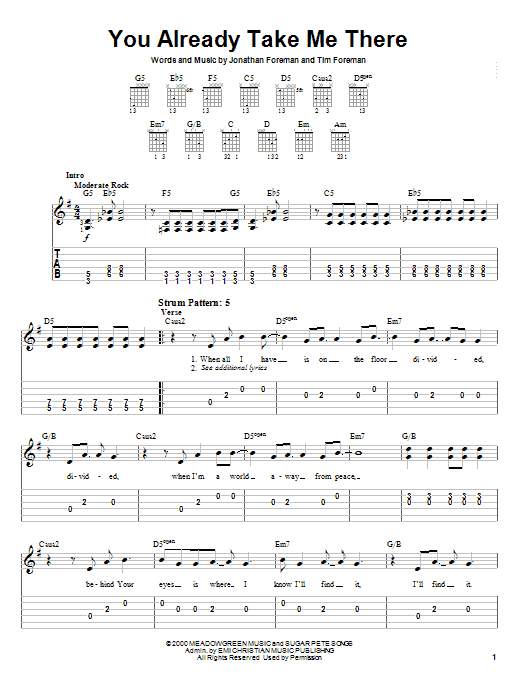 Download Switchfoot You Already Take Me There sheet music and printable PDF score & Rock music notes