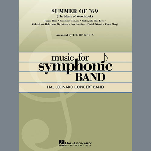 Ted Ricketts, Summer Of '69 (The Music Of Woodstock) - Percussion 2, Concert Band