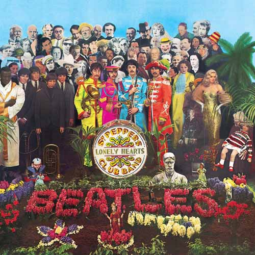 The Beatles, Lucy In The Sky With Diamonds, Piano, Vocal & Guitar (Right-Hand Melody)