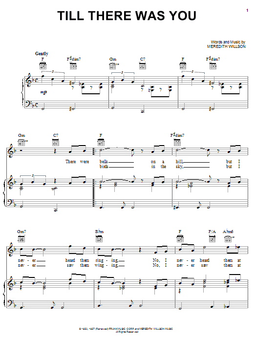 Download The Beatles Till There Was You sheet music and printable PDF score & Rock music notes