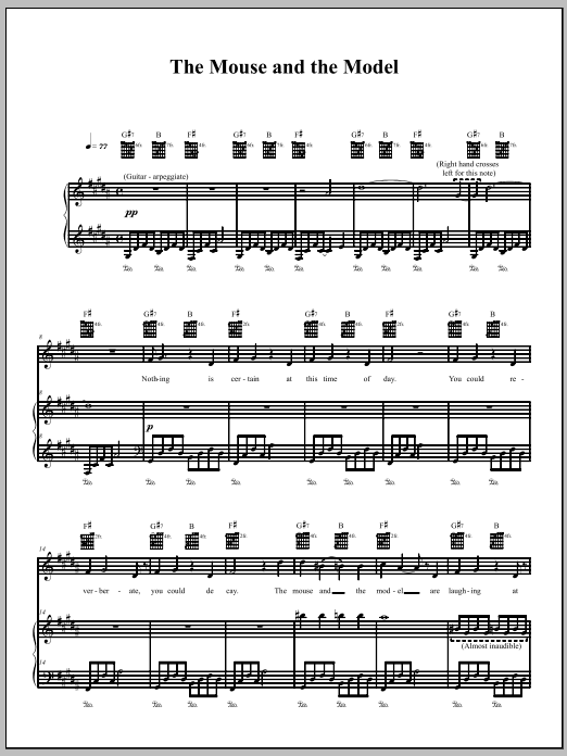 Download The Dresden Dolls The Mouse And The Model sheet music and printable PDF score & Punk music notes