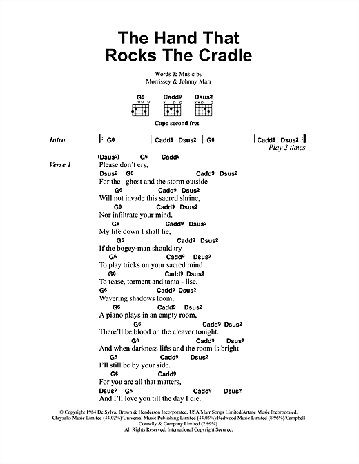 Download The Smiths The Hand That Rocks The Cradle sheet music and printable PDF score & Pop music notes