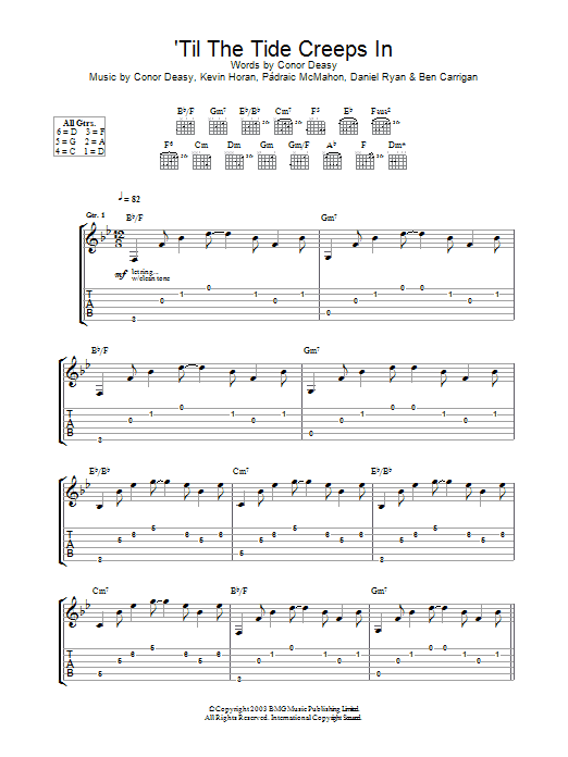 Download The Thrills 'Til The Tide Creeps In sheet music and printable PDF score & Rock music notes